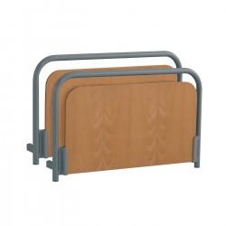 Paneles Nadine (par) - borde de metal e inserto de madera color haya removible.