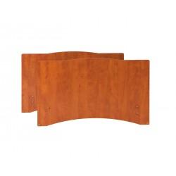 Paneles Camila - (par) - cerezo para barandillas de madera (barandillas Flora)