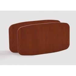 Paneles Sabrine - (par) - cerezo para barandillas de metal